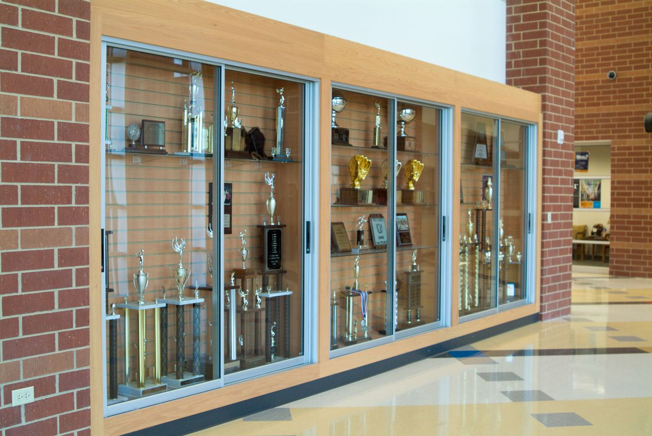 Display Trophy Case Sliders Metal Craft Quality